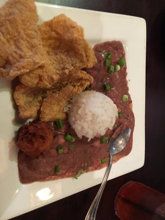 DON'S Seafood: Fried fish, red beans and rice