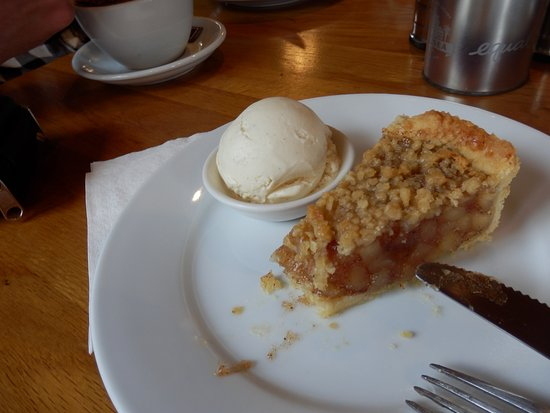 Image result for vanilla ice cream and apple cake