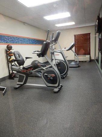 Fitness Center had the basics for a Hampton.