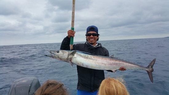 San Cristobal, Ecuador: The crew caught a big fish :-)