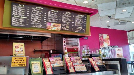 San Leandro, CA: Menu & counter