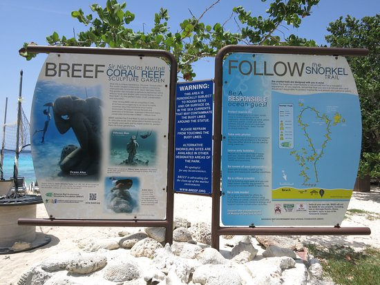 Snorkel map Picture of Clifton Heritage National Park Nassau