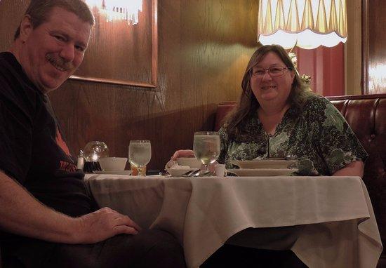 Auburn, ME: Your reviewer & his happy bride.