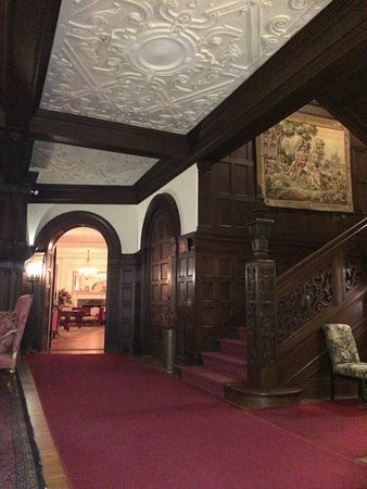 Lenox, MA: Blantyre - Stairway and entry hall