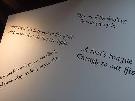 Irish quotes and proverbs adorning the walls Carlos O Bryan