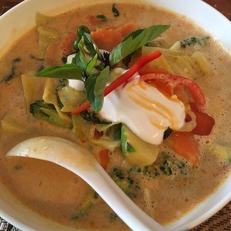 Timaru, Nueva Zelanda: Vegetarian red curry