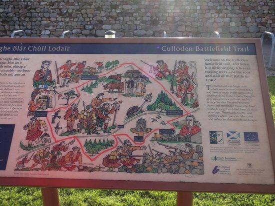 A map of the battlefield  - Foto de Culloden Battlefield
