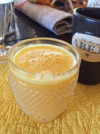 The Inn At Abeja: Fresh squeezed Orange Juice