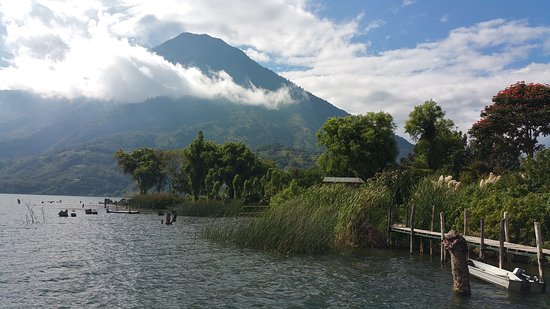 Santiago Atitlan, Guatemala: View from the deck
