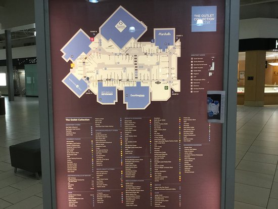 The Outlet Collection map Picture of The Outlet Collection Seattle