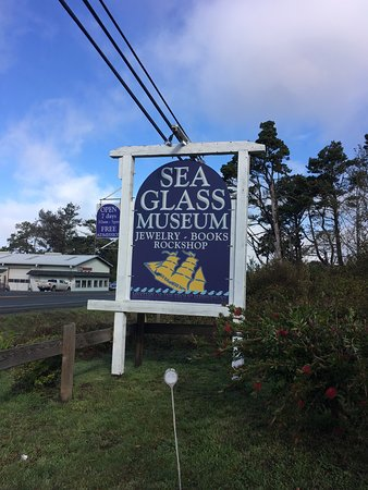 Sea Glass Museum: Look for thr sign.