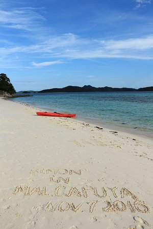 Malcapuya Island : 完美的沙灘
