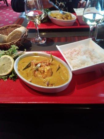 Saint Die des Vosges, Γαλλία: Gambas curry 💛