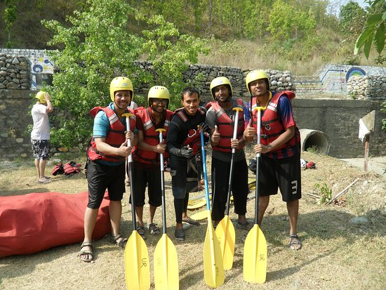 Tatopani, Nepal: After our white water rafting with our guide Kris