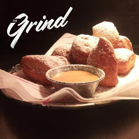 The Grind Beignets New Orleans style doughnuts with chicory coffee dip - chicory coffee