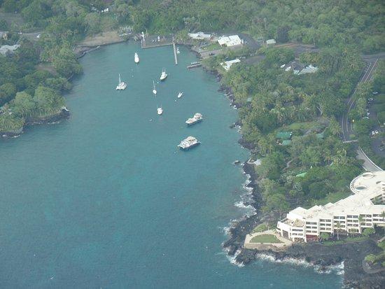 Big Island Air: some bay near Kona