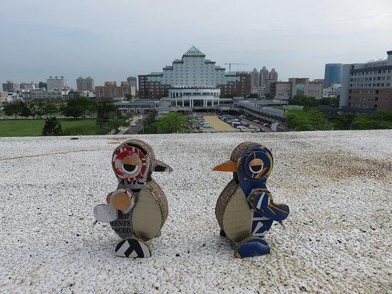 Taipung Suites: ホテル屋上からの眺め(ペンギンと一緒に)