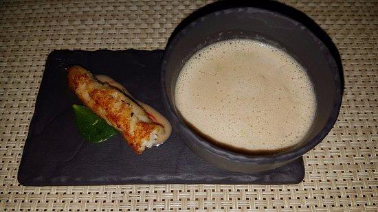 Aubergine: Amuse Bouche - Creamy Fish Soup