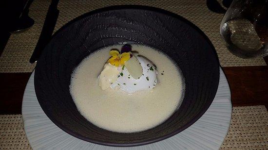 Aubergine: Asparagus Liaison