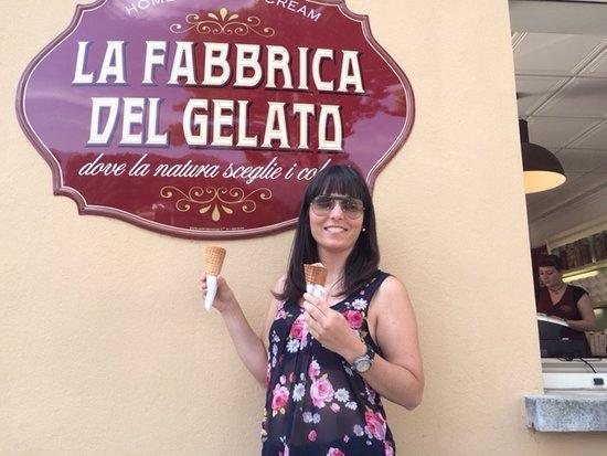 Lenno, Italien: La Fabbrica del gelato