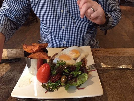 Atcham, UK: the steak with duck eggs