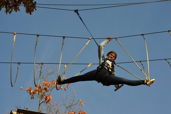 Stevens, PA: Paige showing off her dance skills, 30ft in the air