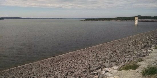 View from the dam at Canyon Lake, TX