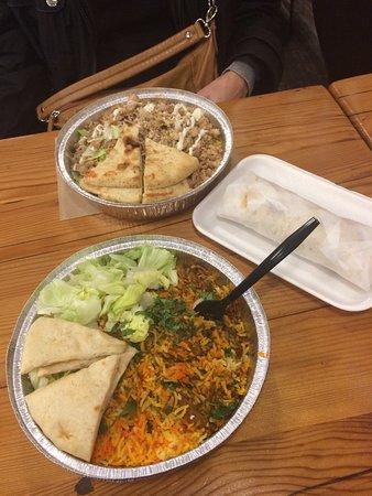 masala kitchen kati rolls platters masala chicken roti chicken rice platter - Masala Kitchen