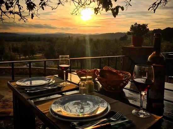 Collbato, Espanha: Cena puesta de sol
