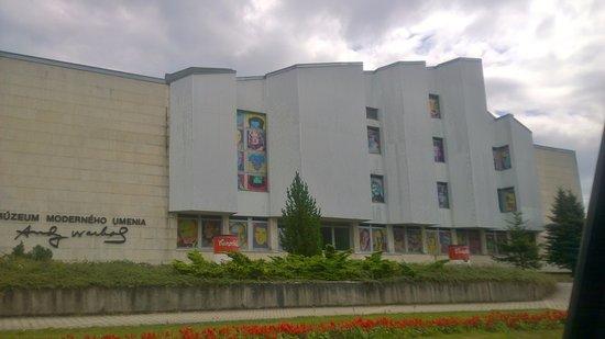 Facade of The Andy Warhol MoMa, Medzilaborce, Slovakia