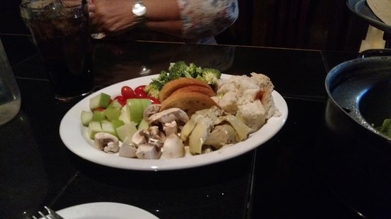Anasazi Steakhouse & Gallery : All the fruit and vegtables for the Tuscany Fondue
