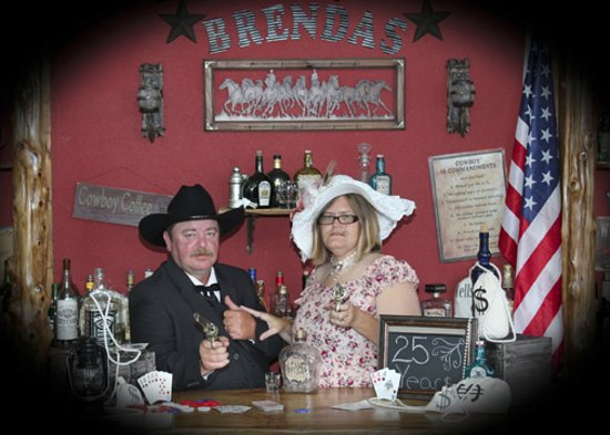 Branson, MO: The gun fighter and the lady!