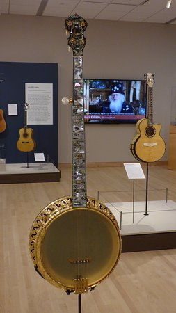 Musical Instrument Museum: Dragon and Vines exhibit - Banjo inlay