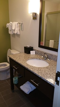 Large Vanity With Sink And Big Mirror Picture Of Sleep Inn