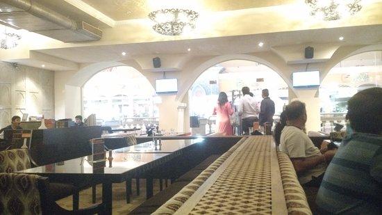 Zaffran: inside the restaurant