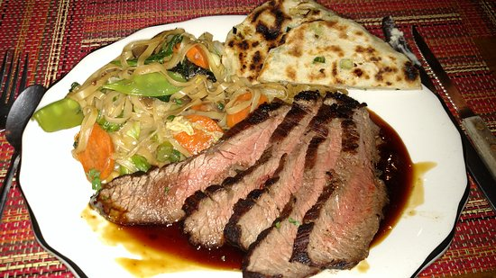 The Inn on Gore Mountain: Delicious, cooked to perfection flank steak