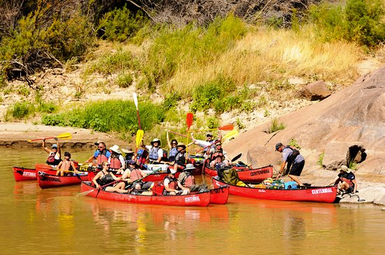 Centennial, CO: The group waiting for the photographer to catch up after some rapids on the Colorado River.