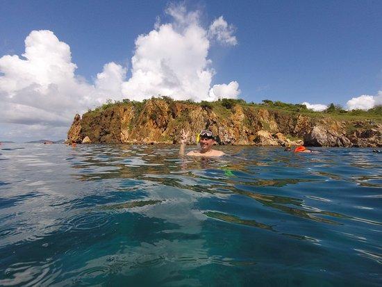 Spanish Town, Virgin Gorda : Me snorkeling at Norman Island