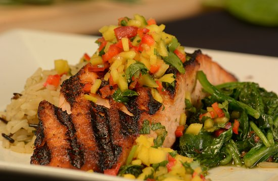 Great Neck, Estado de Nueva York: Grilled Salmon
