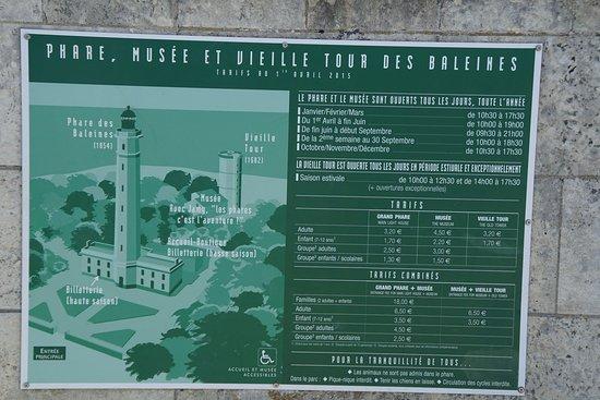 Saint Clement des Baleines, Frankrijk: l'entrée du phare