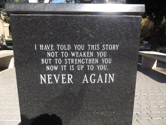 Never Again >> Never Again Picture Of Desert Holocaust Memorial Palm Desert
