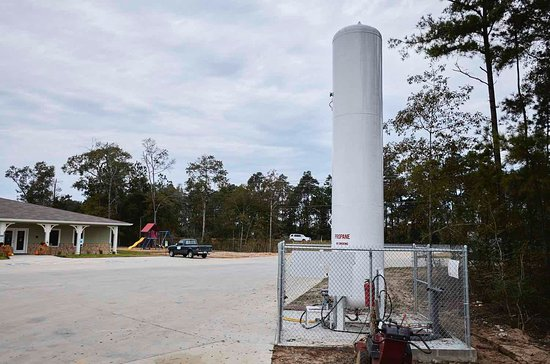 New Caney, Teksas: Propane is available on site