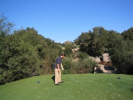 Ramona, CA: Visually intimidating tee shot from 12th tee box