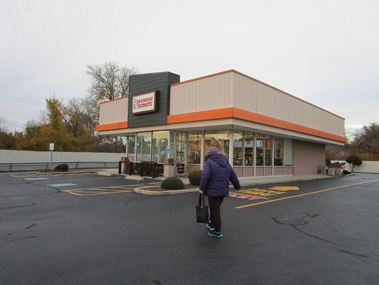 Seekonk, MA: That is me going to Dunkin Donuts.