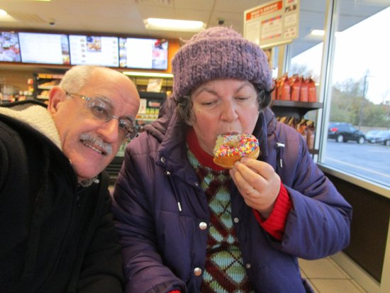 Seekonk, MA: That is me with Louis eating my donut.