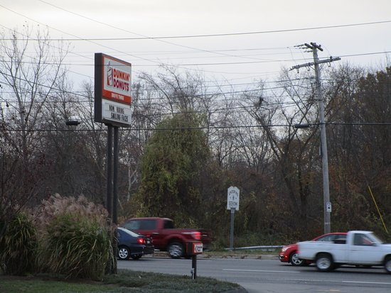 Seekonk, MA: Dunkin Donuts sign on Highland Avenue.