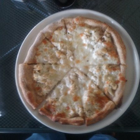 Camp Hill, PA: Delicious whole wheat crab meat pizza.
