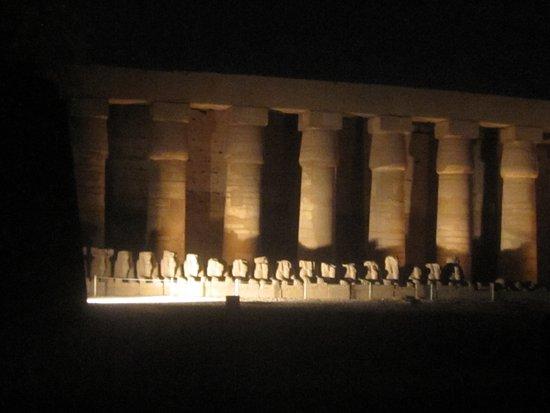 Luxor Sound and Light Show: Lisht show at Karnak Temple