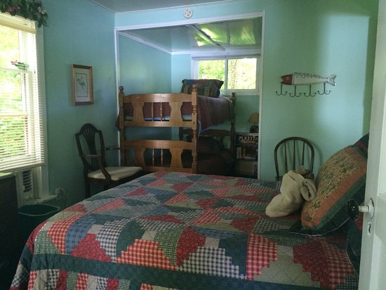 Lawrence, MI: A bed room from the Country Cottage