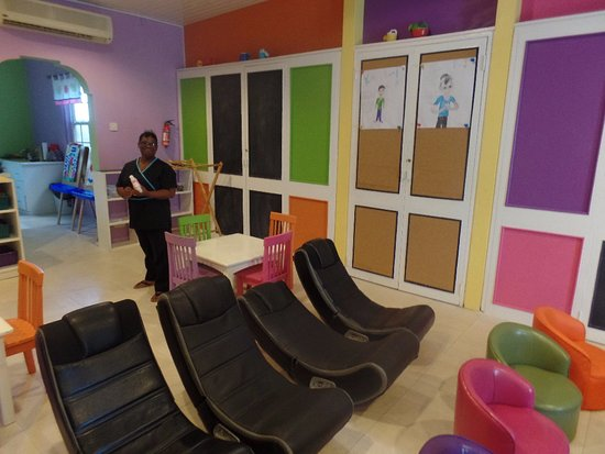 Adorable playroom with interesting \